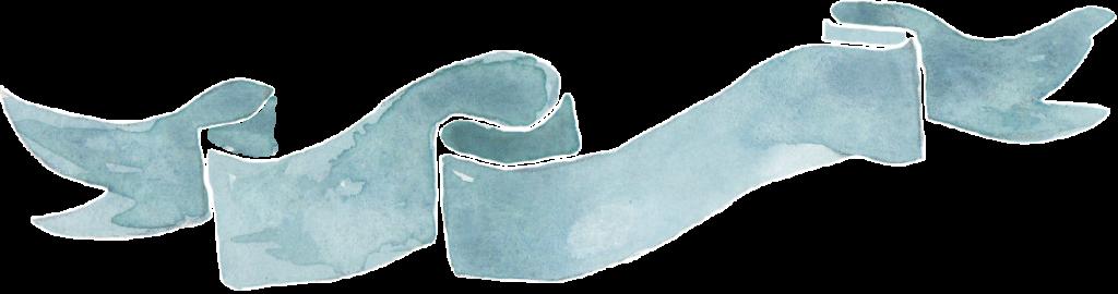 Blue watercolour banner