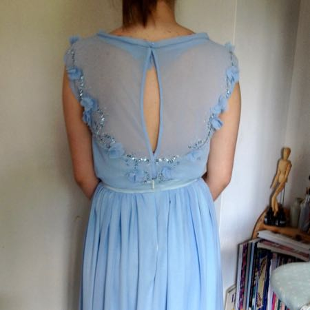Prom dress, back view