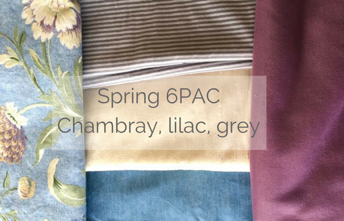 Spring 6PAC Chambray, lilac, grey